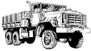 impressive military truck coloring pages tank free war