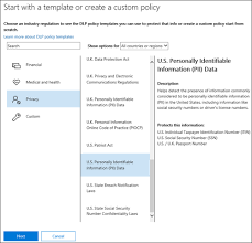 policy templates overview of data loss prevention policies microsoft docs