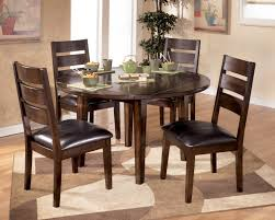 Glass Dining Table With Chairs Glass Round Dining Table Set And 4 White Chairs Faux Leather