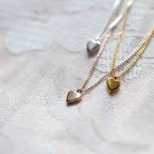 simple personalised sterling silver heart necklace
