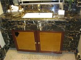 black golden nero yellow black veins buff flower marble countertop
