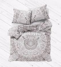 hamsa hand art gypsy cotton queen size duvet cover throw bohemian quilt cover handmade