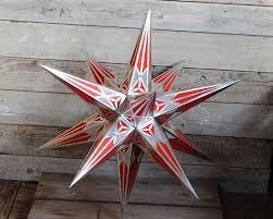 Hartensteiner Adventsstern Weihnachtsstern ø 65cm Rot Silber
