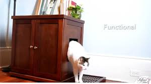 cat litter box covers furniture. Refined Litter Box. A Cat Box Cabinet From The Feline - YouTube Covers Furniture