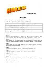 english teaching worksheets holes louis sachar