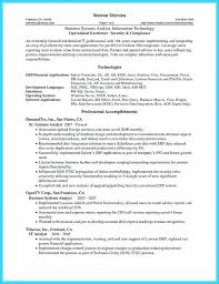 It Analyst Sample Resume | Nfcnbarroom.com