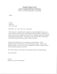 Free Resume Acknowledgement Receipt Letter Templates At