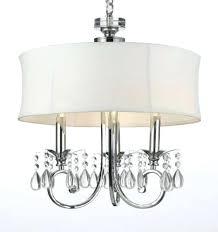 plug in crystal chandelier fabric shade 3 light crystal chandelier lighting swag plug in chandelier w