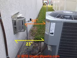 clearance distances for the exterior vent termination of a direct vent gas fireplace heater