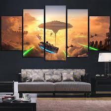 5 panel star wars sky orange wall art canvas super hacks on panel wall art star wars with 5 panel wall art yasaman ramezani
