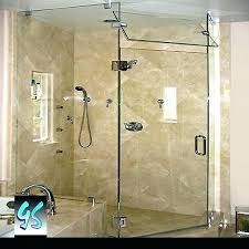 shower enclosure glass corner door angle doors home depot frameless sliding ho