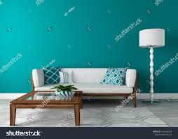 Modern Living Room Color Sea Wave Stock ...