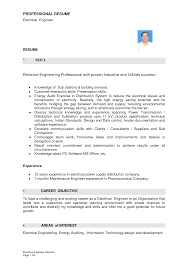 Adorable Power Plant Resume Sample About Resume Of Electrical Engineer  Power Plant