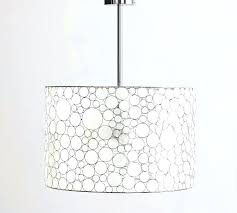 white drum pendant light fixture linen lamp shade white drum pendant