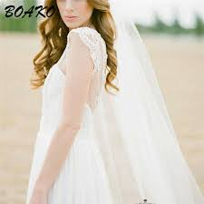 <b>BOAKO</b> White Cathedral Wedding Veil with Comb 2Meters One ...