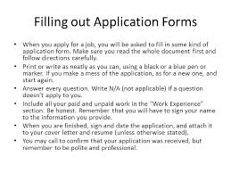 Summary Tips For Filling Out Paper Job Application Forms Dummies