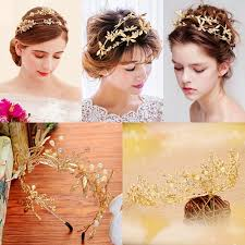 <b>Gorgeous Silver Crystal</b> Long <b>Bridal</b> Headband Handmade Floral ...