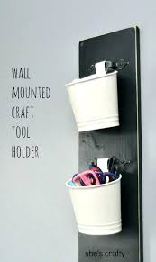 hanging pen holder shes crafty wall mounted craft tool pencil cup how to ikea