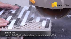 cutting stainless steel tiles with a wet saw
