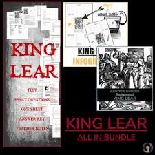 King Lear All In Bundle By Linda Jennifer Teachers Pay Teachers