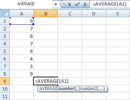 Microsoft Excel Tutorials The Average Function