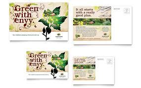 Postcard Templates Free New Landscape Design Postcard Template Design