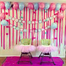 simple birthday wall decoration ideas at home for kids first