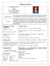Safety Officer Resume Sample Hse Officer Cv