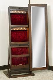 mirror jewelry box. shaker sliding mirror jewelry box leaner - open