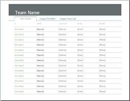 free printable roster template team roster template soccer roster template free printable