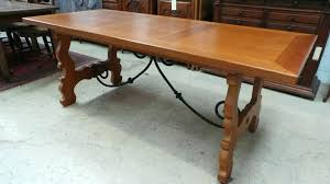spanish wood dining table style furniture mission bench