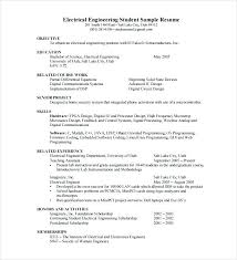 Sample Resumes In Word Model Resumes Free Download Electrical