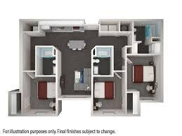 3 Bedrooms 3 Bathrooms Apartment For Rent At Park West In College Station,  TX