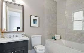 Brilliant Bathroom Gray Subway Tile Best Glass Ideas On