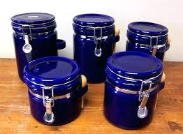 blue canister set blue canister set bid glass and white kitchen sets blue canister set vintage blue glass canister set