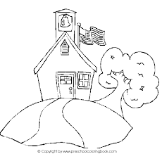 simple back to school coloring pages for preschool