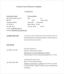 Resume Template For Customer Service Beauteous Customer Service Resumes Templates Gallery For Website Customer