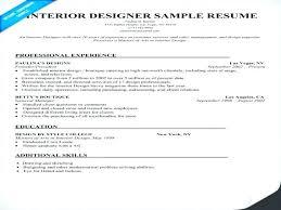 Interior Designer Skills Resume Objective Best Templates