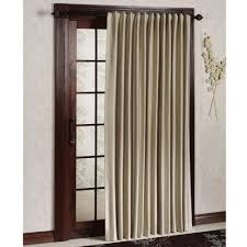 Window Treatments Metal Doors Gray Single Side Curtain For Brown Wodoen Frame Patio Door With