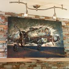 more photos on airplane wall art metal with metal b 17 bomber wall decor from sporty s pilot shop