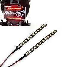 motorcycle auxiliary led brake light rear fog light strips image 1