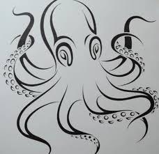 как нарисовать татуировку осьминога карандашом на бумаге поэтапно