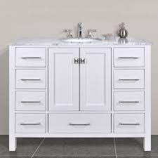 white single sink bathroom vanities. Lovable White Bathroom Vanity With Black Top Malibu Pure Single Sink 48 Inch Vanities
