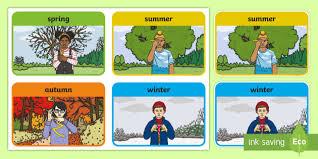 Seasons British Sign Language Bsl Flashcards Spring