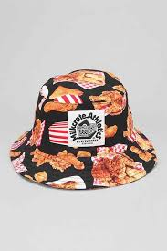 fried chicken bucket hat. Interesting Fried Milkcrate Athletics Fried Chicken Bucket Hat Black Multi With Hat L