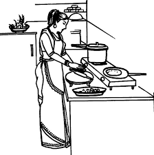 Small Picture Mother Cooking Dinner in the Kitchen Coloring Pages Download