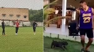 Goleiro Bruno Fernandes aluga casa na Região dos Lagos e já treina em campo