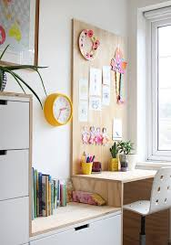 diy plywood kid s desk build out an ikea storage system with your own matching diyed plywood desk that blends right into the wall unit