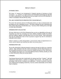 business policy example business privacy policy template business privacy policy template