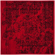 safavieh adirondack red black 4 ft x 4 ft square area rug
